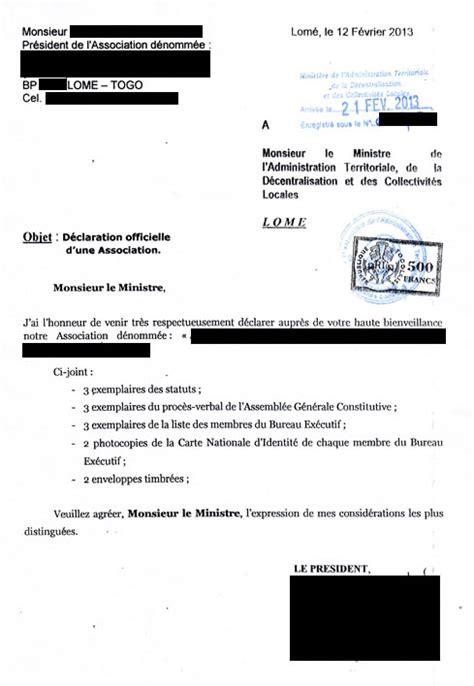 Lettre De Demande De Cachet Eregulations Togo