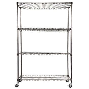costco wire shelving alera 4 shelf wire shelving rack 48 quot x 18 quot x 72 quot black anthracite