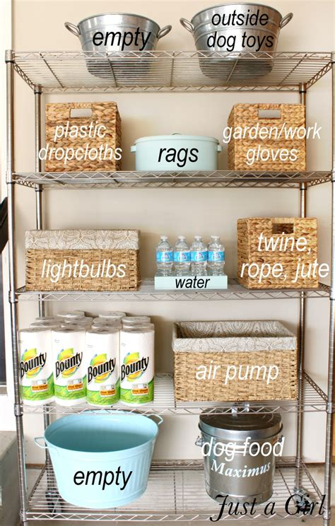 how to organize the garage organized garage shelves lowes creator