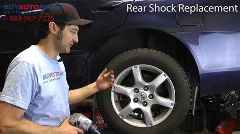 how to replace rear shocks buyautoparts com youtube