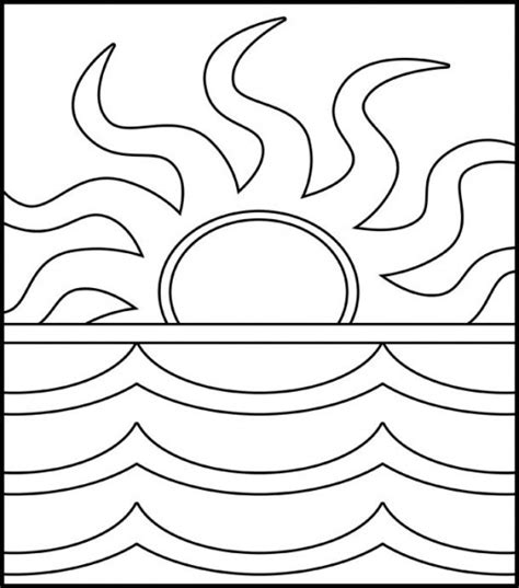 sunset coloring pages sunset clipart coloring page pencil and in color sunset