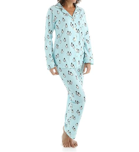 bed head pajamas bedhead pajamas blue penguins on parade long sleeve