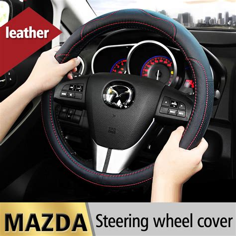 Cover Mazda Cx 6 leather car styling steering wheel cover for mazda 3 2 mazda 6 axela cx 5 cx5 cx 7 cx7 cx 9 rx8