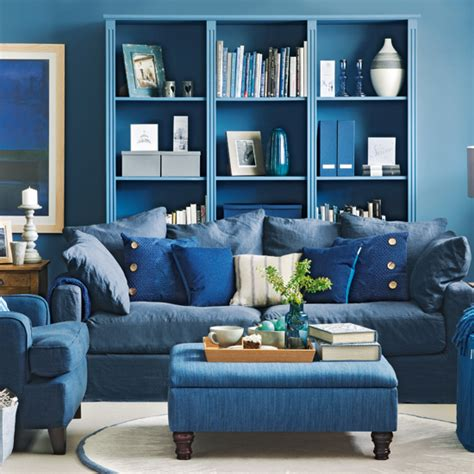 Blue Living Room Clip Denim Blue Living Room Ideal Home