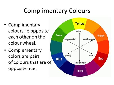 what is complementary colors colour theory project ppt