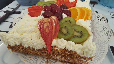 Decoration Genoise Aux Fruits by G 226 Teau D Anniversaire Aux Fruits La Cuisine De Nawal