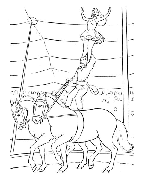 Free Circus Coloring Pages free printable circus coloring pages for