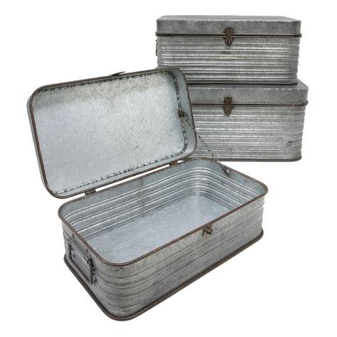 Metal Storage Box metal storage box 3 set woo design