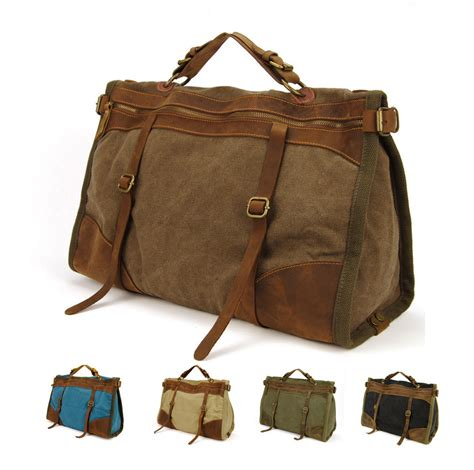 Tous Travel Bag 1 vintage retro canvas leather travel bags luggage bag duffel bags weekend bag