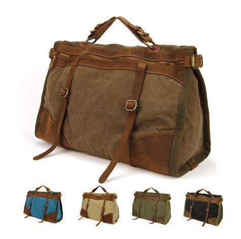 Bag In Bag 5 In 1traveling Bag In Bag Tas Traveling Serbaguna vintage retro canvas leather travel bags luggage bag duffel bags weekend bag