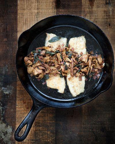 cast iron seattle cast iron trout with chanterelles edible seattle
