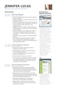 Web Project Manager Sle Resume by Chef De Projet Web Exemple De Cv Base De Donn 233 Es Des Cv De Visualcv