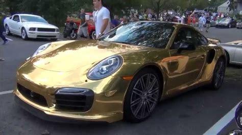 porsche gold wrapped gold porsche 911 turbo s