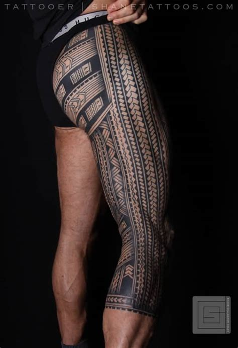 hawaiian tribal leg tattoos 54 tattoos collection