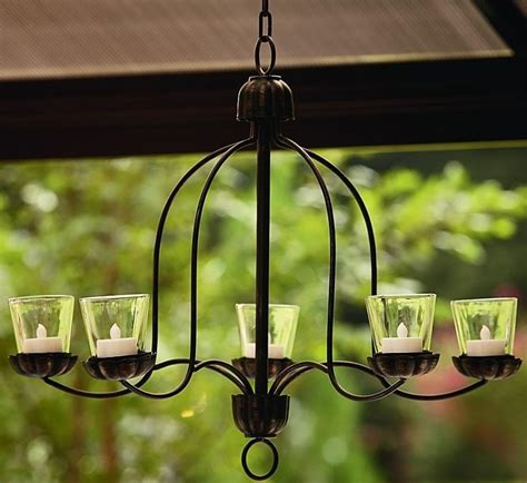 Hanging Votive Chandelier For Outdoor Living Space Patio Porch Chandelier