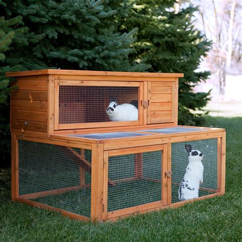 rabbit house boomer george deluxe rabbit house rabbit cages hutches at hayneedle
