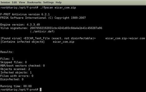 eicar test f prot antivirus support