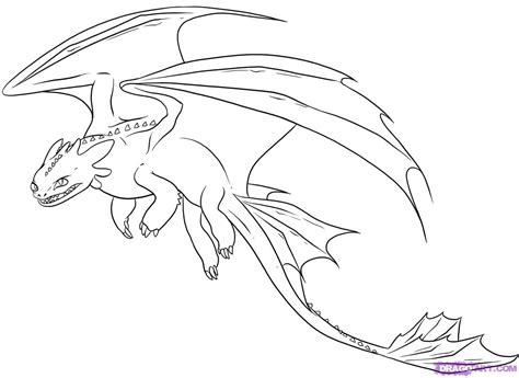 coloring pages toothless dragon step 9 how to draw night fury