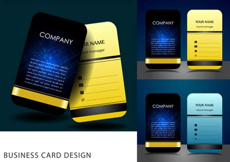 business card design template 2017 business card calendar template free vector