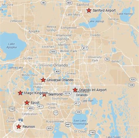map of reunion florida reunion resort rentals luxury vacation rentals orlando