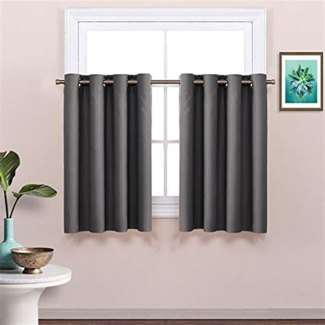 blackout tier curtains nicetown thermal insulated blackout half window tier