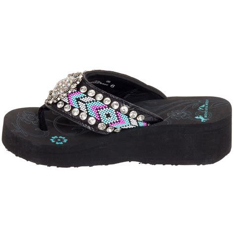beaded flip flops montana west s beaded flip flop bling sandal