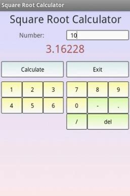 calculator root square root calculator for android free download and