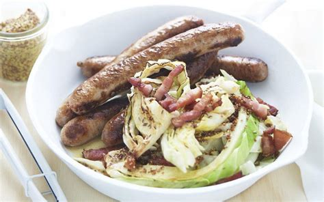 bratwurst and cabbage bratwurst with cabbage speck recipe food to love