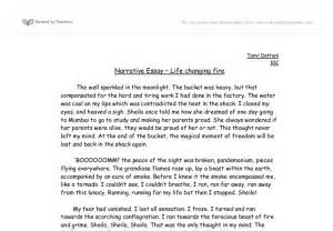 Exle Of Narrative Essay Topics by Narrative Essay Example Alisen Berde