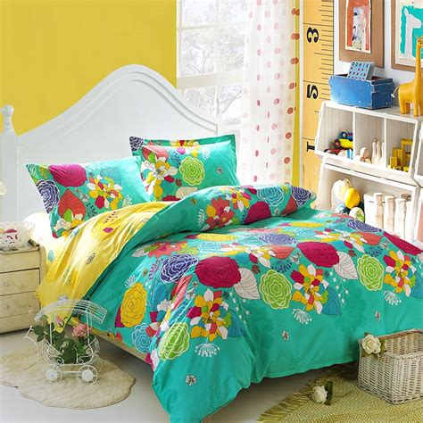 turquoise and yellow bedding turquoise yellow and red bright colorful nature floral