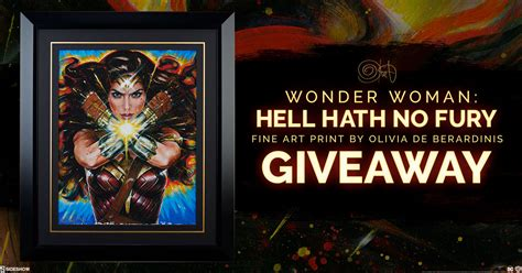 Print Giveaway - wonder woman hell hath no fury art print giveaway sideshow collectibles