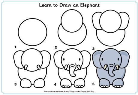tutorial menggambar owl learn to draw an elephant