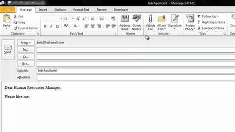 How To Create A Fillable Email Template In Outlook How To Create An Email Template In Microsoft Outlook 2010 Youtube