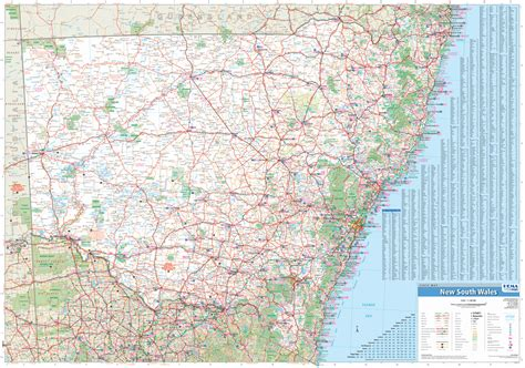 printable nsw road map new south wales hema state laminated buy laminated map of