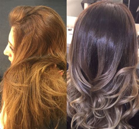 balayage cover gray hair can balayage hair dye make you look younger good