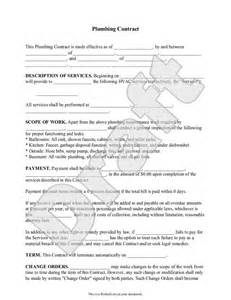 Plumbing Contract Forms by Plumbing Contract Template Independent Contractor