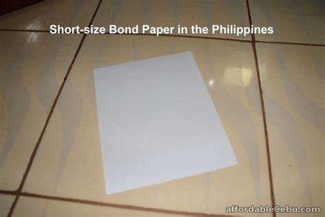 How To Make Bond Paper - size of bond paper in the philippines philippine