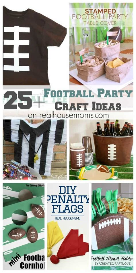 football craft projects football crafts