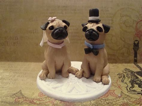 pug and groom pug and groom cake topper flickr photo