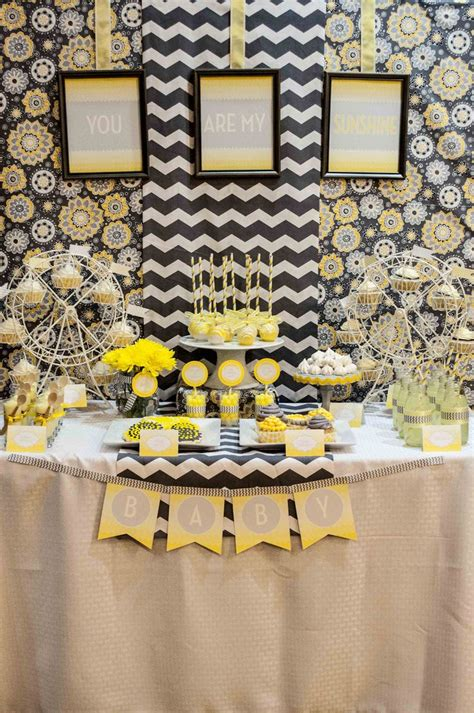 Yellow Themed Baby Shower by 25 Best Ideas About Baby Showers On