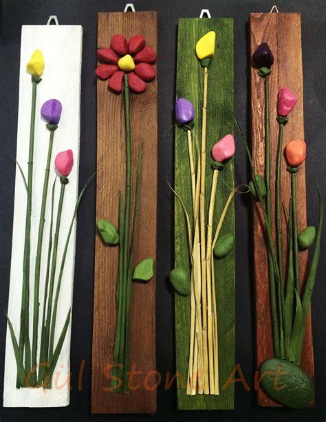 Bilder Mit Steinen Und Blumen blumen bilder auf holz aus stein made with pallet