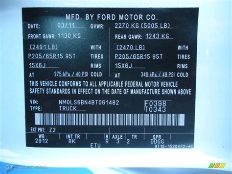 paint code for ford frozen white
