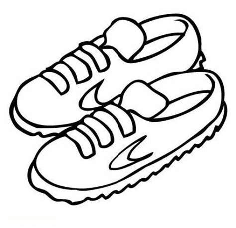 dibujos infantiles zapatillas dibujo de zapatillas naik para pintar y colorear