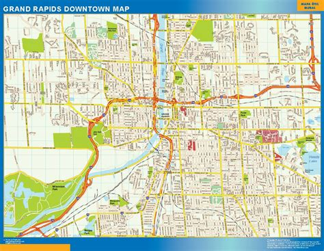 map of grand world wall maps store grand rapids downtown map more than 10 000 maps our grand
