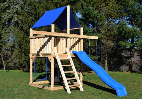 Cedar Swing Sets   The Bailey Space Saver