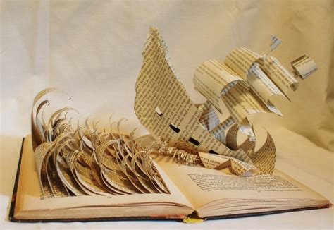 Paper Crafting Books - book on book book sculpture and