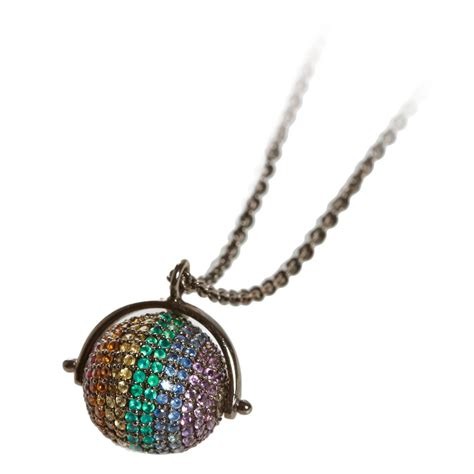 jade jagger midnight rainbow disco necklace at 1stdibs