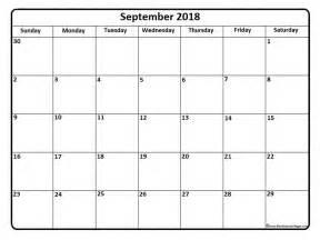 Calendar 2018 September September 2018 Calendar September 2018 Calendar Printable