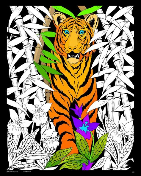 velvet coloring posters bamboo tiger large 16x20 inch fuzzy velvet coloring