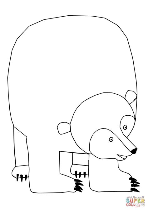 coloring page of a brown bear brown bear brown bear what do you see coloring page